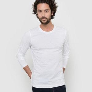 T-shirt col rond uni manches longues Les petits prix
