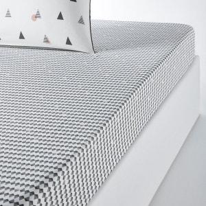 Drap housse imprimé percale pur coton DIGNA La Redoute Interieurs image