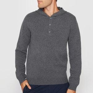 Sweter z kapturem z miękkiej wełny R essentiel