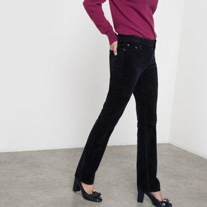 Pantalon velours droit R essentiel