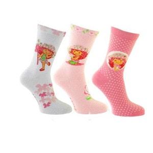 3 paires de chaussettes Charlotte aux fraises 27-30 ARDO