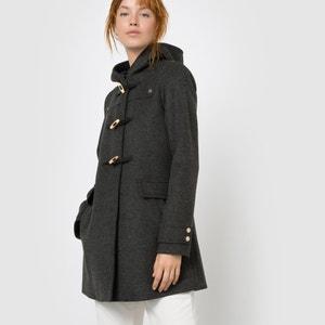 Duffle coat à capuche en drap de laine MADEMOISELLE R