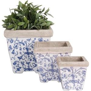 Pots en céramique patiné (Lot de 3) ESSCHERT DESIGN