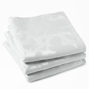 Serviettes de table jacquard, 100% polyester, (lot de 3), motifs papillons La Redoute Interieurs