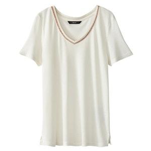 T-shirt met V-hals VERO MODA