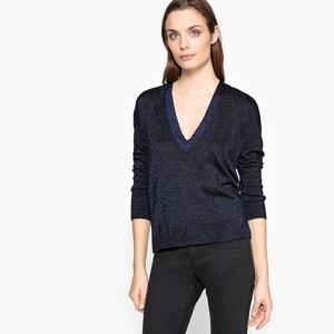 Sweter z błyszczącej dzianiny La Redoute Collections