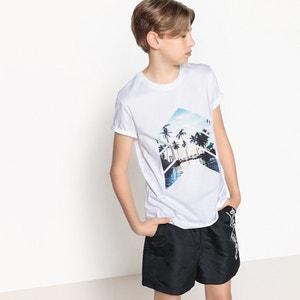 T-shirt imprimé en coton 10-16 ans La Redoute Collections