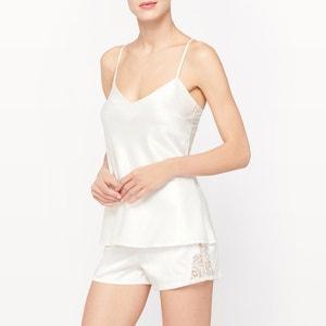 Pijama curto, 2 peças, em cetim LOUISE MARNAY