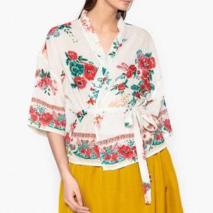 Blouse kimono imprimée fleurs CRAZY UKRANIA LEON and HARPER