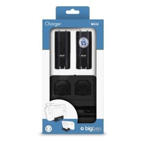 Chargeur  noir pour batteries rechargeables pour WII MOTE et WIIU Gamepad controller BIG BEN