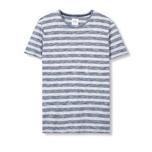 Camiseta jaspeada a rayas ESPRIT