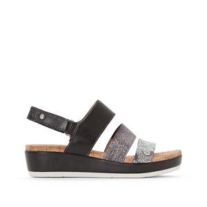 Mykonos Leather Wedge Heel Sandals PIKOLINOS