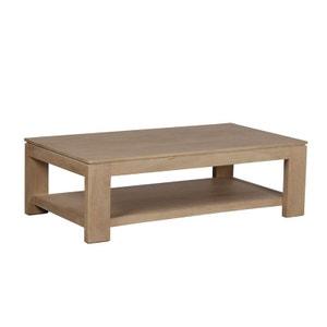 Table basse rectangle double plateaux Manguier massif 130x70x40cm BOREAL CLAIR PIER IMPORT