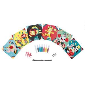 Coffret créatif Cartes à pailletter : Cirque JANOD