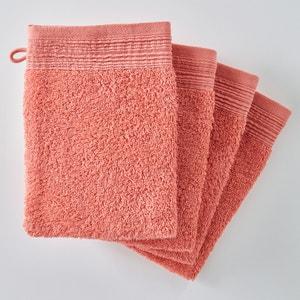 Luvas de banho lisas, turco algodão bio (lote de 4) SCENARIO