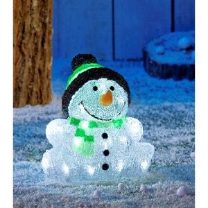 Bonhomme de neige avec bonnet extérieur IP44 sans branchement électrique - Autonome avec Timer - 30 LED blanches ! TARRINGTON HOUSE
