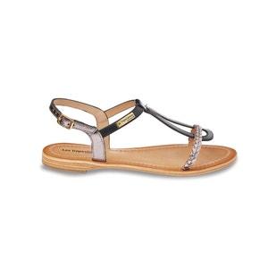 Platte sandalen in leer Hatress LES TROPEZIENNES PAR M.BELARBI