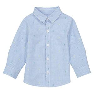Рубашка с рисунком и длинными рукавами - 1 мес. - 3 года La Redoute Collections