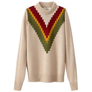 Пуловер с круглым вырезом из тонкого трикотажа JOUR NÉ X LA REDOUTE MADAME