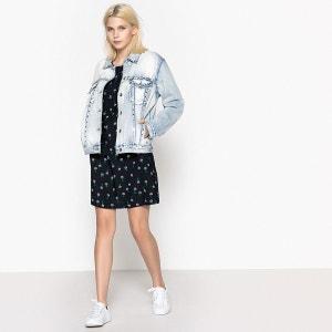 Jeansjacke in weiter Boyfriend-Form, Metallnieten, reine Baumwolle ONLY