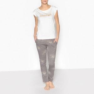 Pyjama à message pailleté La Redoute Collections