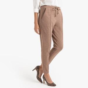 Slim broek, strak model in molton