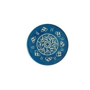 Shuffle puck Jeu de palets de table Palet de compétition 13g : Bleu 1 CARROM ART