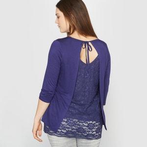 T-Shirt with Pretty Lace Back CASTALUNA
