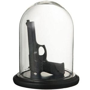 Cloche en verre avec pistolet en résine JOLIPA