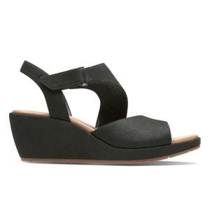 Sandales cuir suédé talon compensé Un Plaza Sling CLARKS