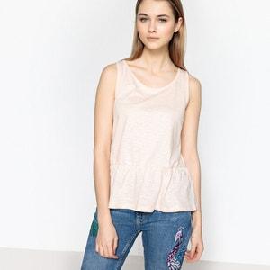 Effen T-shirt met ronde hals zonder mouwen BEST MOUNTAIN