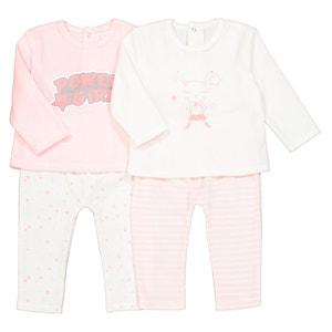 Confezione da 2 pigiama 2 pezzi in velluto da 0 mesi a 3 anni La Redoute Collections