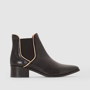 Chelsea boots in leer KESSYA PASTELLE
