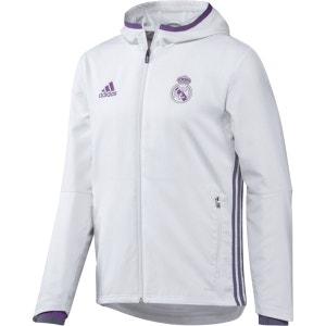 Veste zippée de présentation Real Madrid avec capu adidas