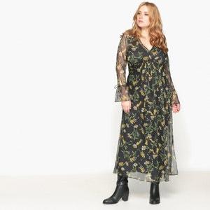 Robe longue en polyester, manches longues CASTALUNA