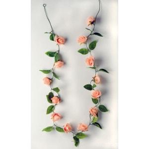Guirlande de roses artificielles Rose Tendre L 205 cm et 13 roses et 26 feuilles - choisissez votre coloris: Rose tendre ARTIF-DECO