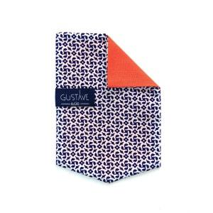 Pochette 4en1 - Fleur Bleue - Corail GUSTAVE ET CIE