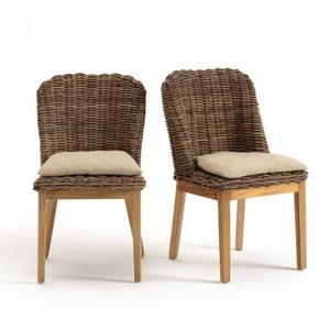 Chaise kubu avec coussin (lot de 2) INQALUIT La Redoute Interieurs