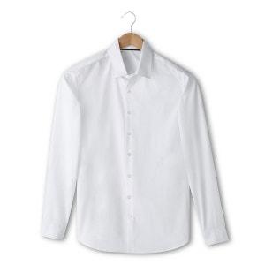 Camisa de mangas compridas, corte slim, lisa R essentiel