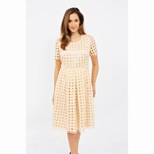 Short-Sleeved Midi Dress LOVEDROBE