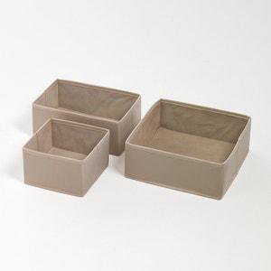 Lote de 3 caixas de arrumação, 3 tamanhos La Redoute Interieurs