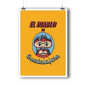 Affiche d'art El diablo de Guadalajara BALIBART
