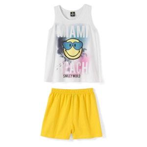 Pijama com calções, menina, estampado, 10 - 16 anos SMILEY