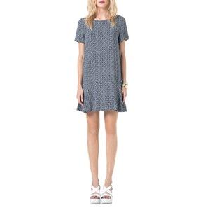 Short Sleeved Flared Dress BEST MOUNTAIN