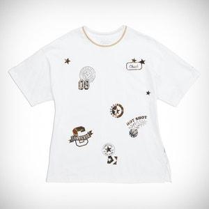 Loose T-shirt met ronde hals, korte mouwen, patches CONVERSE