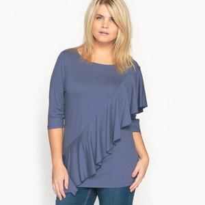 Asymmetrical Ruffle T-Shirt CASTALUNA