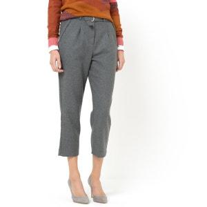 Wool Blend 7/8 Length Trousers SOFT GREY