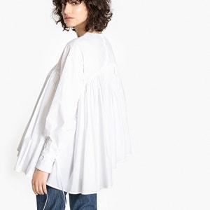 Loose Fit Asymmetric Stretch Cotton Blouse FLORE GIRARD DE LANGLADE x LA REDOUTE