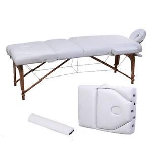 Table de massage 3 zones pliable blanc HOMCOM
