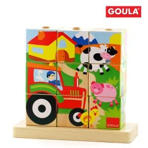 Puzzle Cubes Ferme - DIS55203 GOULA